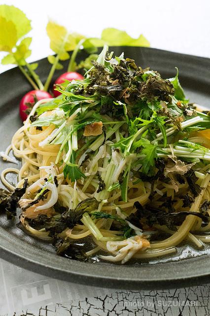 しらすと水菜のペペロンチーノ-2.jpg